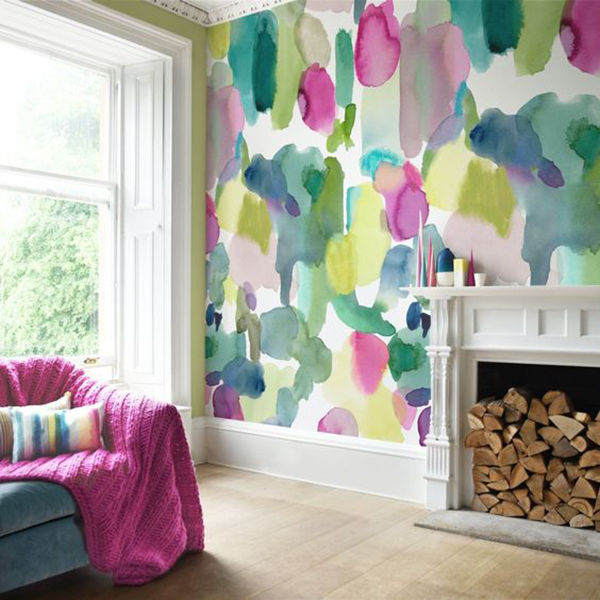 The Tenderest Interior: Abstract Watercolours on Modern Wallpapers, фото № 1
