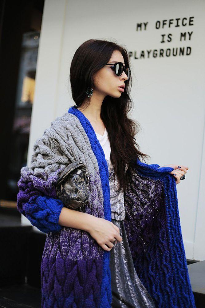 вязаный кардиган, ручная работа, купить пальто, серый, модный