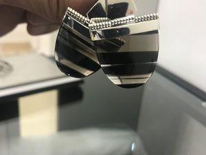 Аукцион на Оригинальные Серебряные серьги с крупным камнем Обсидиан Тигровый глаз. Ярмарка Мастеров - ручная работа, handmade.