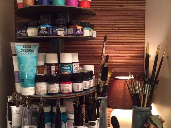 Как сделать вращающийся органайзер для красок | Ярмарка Мастеров - ручная работа, handmade
