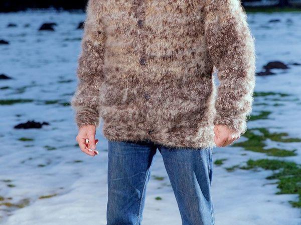 Акция!!!Свитер ручного вязания из собачьего пуха по ВАШЕЙ Цене !!! | Ярмарка Мастеров - ручная работа, handmade