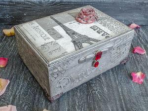Декорируем шкатулку «Любовь к Парижу». Ярмарка Мастеров - ручная работа, handmade.