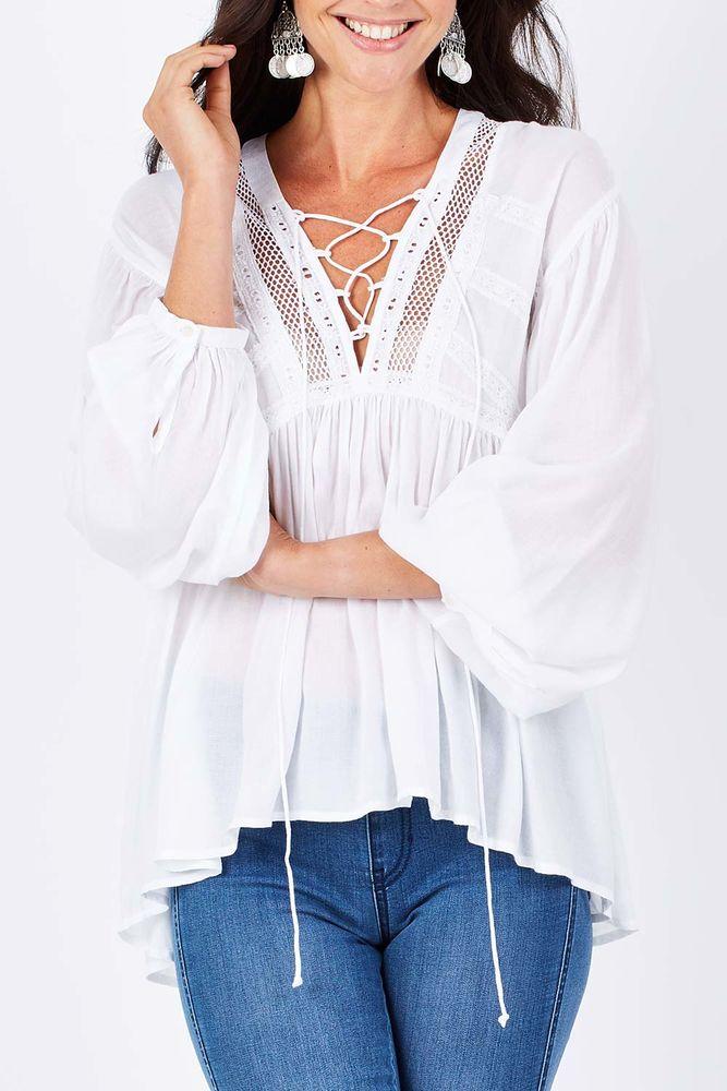 Белое бохо, или Шикарная одежда для королевы летнего пляжа, фото № 54