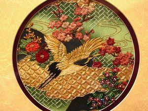 Японская вышивка шелком от Margaret Lee. Ярмарка Мастеров - ручная работа, handmade.