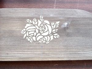 Decorating a Wooden Shelf with a Stencil. Livemaster - handmade