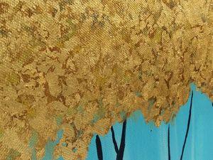 """Картина """"Золотая листва"""". Ярмарка Мастеров - ручная работа, handmade."""