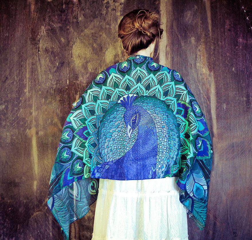 Когда вырастают крылья: завораживающие палантины Розы Хамитовой, фото № 14