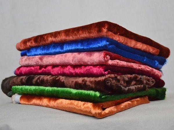 Плюшевая конфетка! Подарок: набор из 7 отрезов плюша для теддиков!!! | Ярмарка Мастеров - ручная работа, handmade