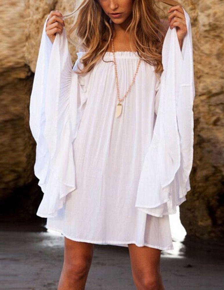 Белое бохо, или Шикарная одежда для королевы летнего пляжа, фото № 90