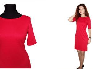 Аукцион на базовое красное платье!. Ярмарка Мастеров - ручная работа, handmade.