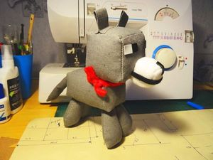 Мастерим волка-собаку по мотивам игры Minecraft. Ярмарка Мастеров - ручная работа, handmade.