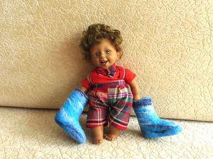 Как свалять валенки для куклы. Ярмарка Мастеров - ручная работа, handmade.