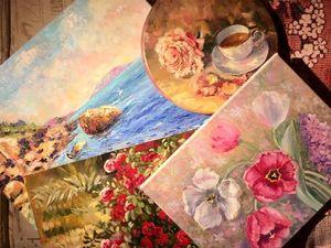 Аукционы сегодня! Красивые картины маслом!. Ярмарка Мастеров - ручная работа, handmade.