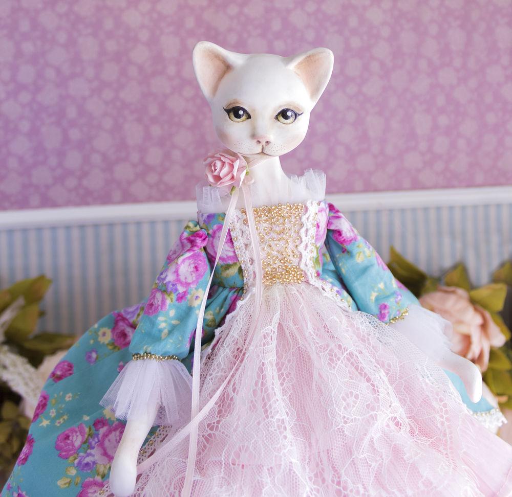 купить авторская кукла, кот кошка котята коты