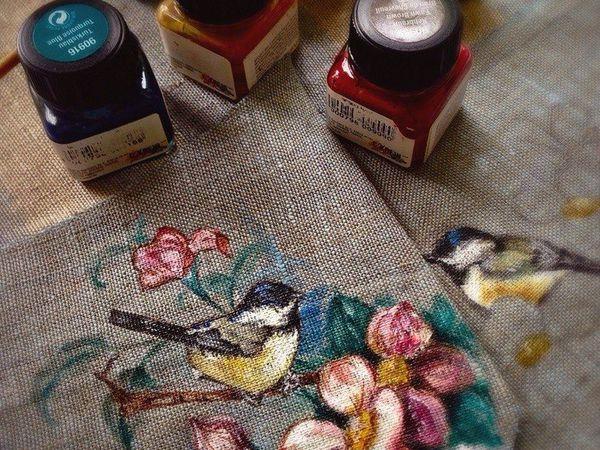 Краски по ткани   Ярмарка Мастеров - ручная работа, handmade