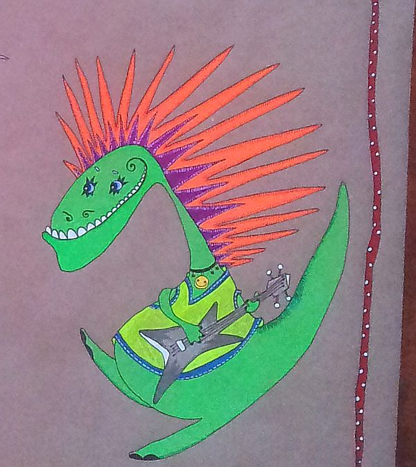динозавры, рок на века, гитара, зоопарк