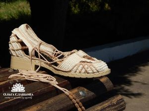 Вязаная летняя обувь крючком. Ярмарка Мастеров - ручная работа, handmade.