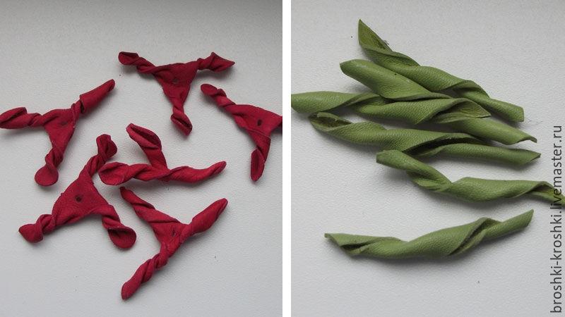 тюльпаны из кожи