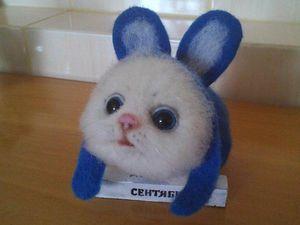 Аукцион!!! Котенок в костюме зайки. Ярмарка Мастеров - ручная работа, handmade.