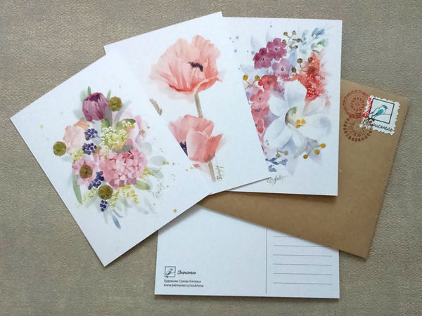 Бесплатная доставка открыток до Нового Года!!! | Ярмарка Мастеров - ручная работа, handmade