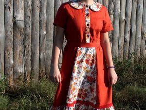 """Новое льняное платье """"Колибри"""". Ярмарка Мастеров - ручная работа, handmade."""