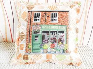 Щедрый аукцион. Магазин цветов на вашу подушку. Ручная вышивка крестом. Ярмарка Мастеров - ручная работа, handmade.
