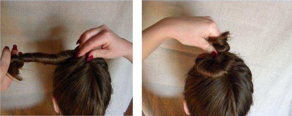 Как собрать волосы в пучок при помощи волшебной палочки, фото № 3