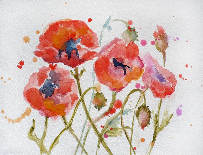 акварельная картина, картина цветы, цветочная картина, акция, скидка