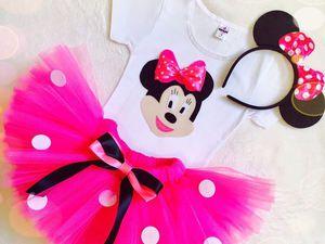 Новый Ярко-розовый костюм Минни Мауса | Ярмарка Мастеров - ручная работа, handmade