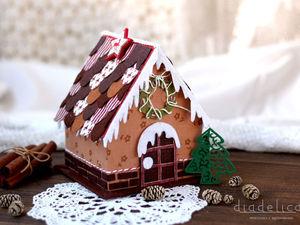 """Создаем """"Пряничный домик"""" из картона и ткани. Ярмарка Мастеров - ручная работа, handmade."""