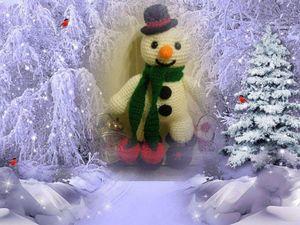 Снежик - Волшебный Снеговичок!!! (друзьям). Ярмарка Мастеров - ручная работа, handmade.