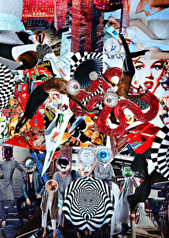 картина, купить картину, картины, сюрреализм, сказка, современное искусство, коллаж, магазин картин, оригинальная картина, картина для галереи, художник, ирина баст, баст, мерилин монро, мэрилин монро, время, иллюзия, картина для интерьера, 2д картина, символизм картина купить