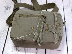 Новая женская сумочка кроссбоди из брезента. Ярмарка Мастеров - ручная работа, handmade.