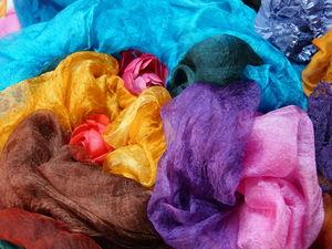 Шелка и краски: цветная осень.... Ярмарка Мастеров - ручная работа, handmade.