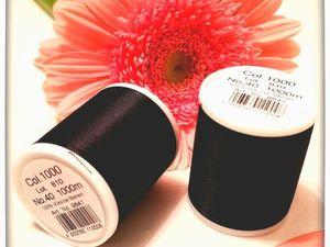 Чёрные ниточки для кистей и вышивания. Ярмарка Мастеров - ручная работа, handmade.