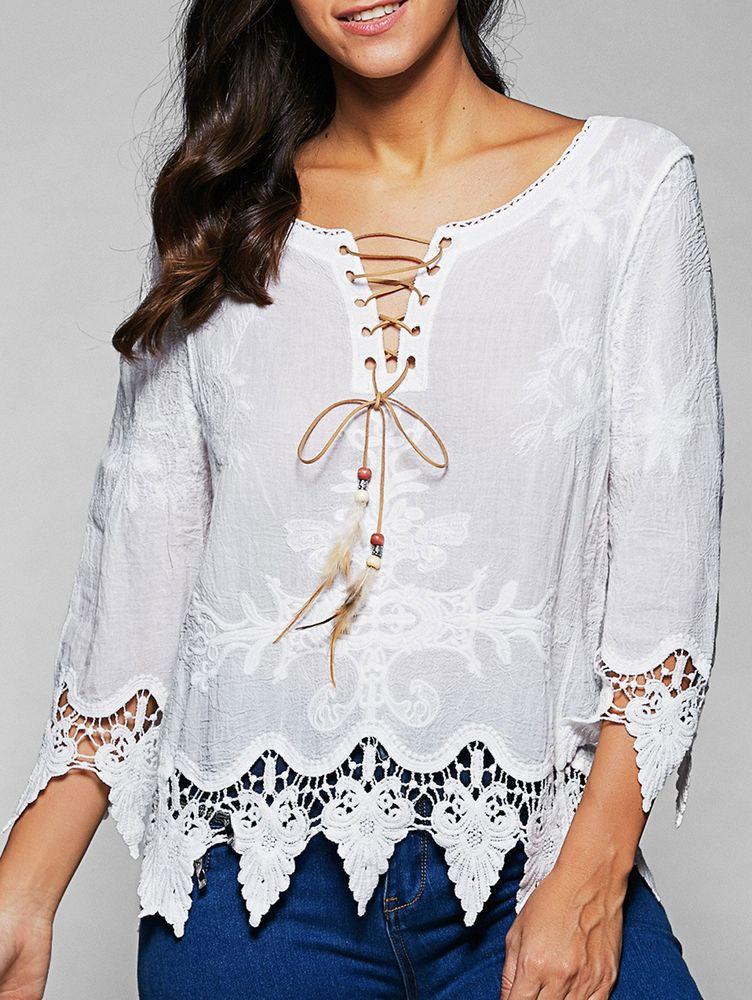 Белое бохо, или Шикарная одежда для королевы летнего пляжа, фото № 42