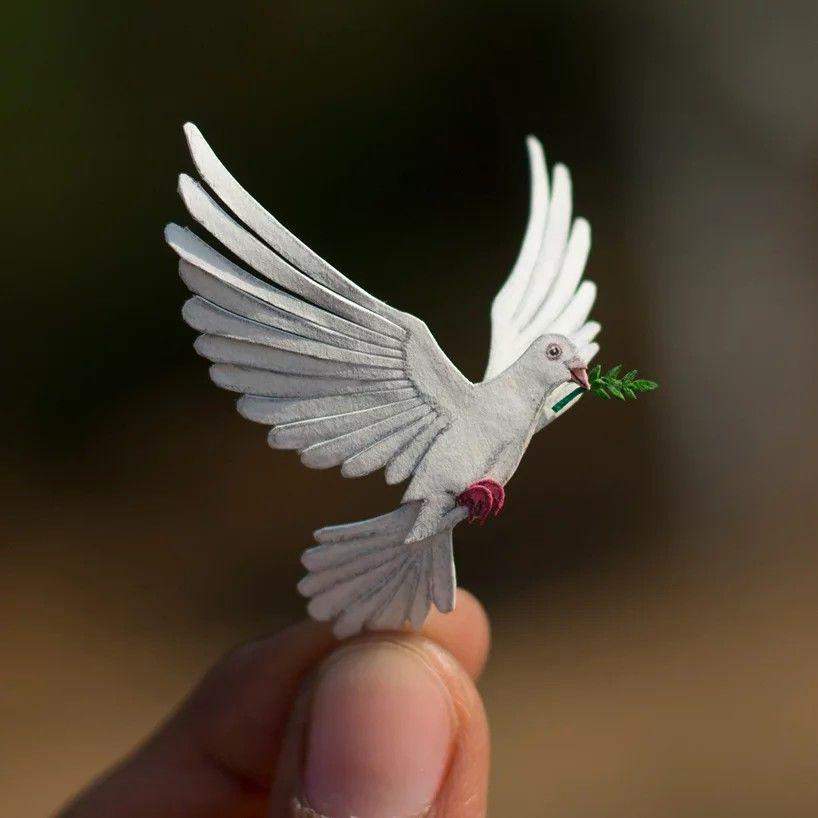 365 дней миниатюры: крошечные бумажные птицы от индийских художников