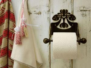 Делаем металлический держатель для туалетной бумаги своими руками. Ярмарка Мастеров - ручная работа, handmade.