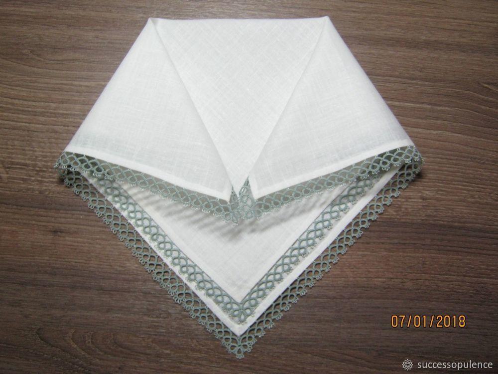 Making Handkerchiefs with Tatting Lace, фото № 22
