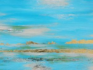 Аукцион!!! — картина акрилом   «Золотой песок». Ярмарка Мастеров - ручная работа, handmade.
