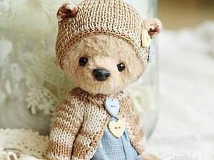 How to Knit a Cap for Teddy. Livemaster - handmade