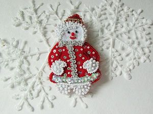 Анонс! Брошь Снежная красавица от Olga Gardenia. Ярмарка Мастеров - ручная работа, handmade.