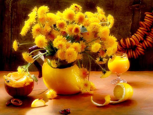 гороскоп, цветы, цветочный, декабрь, жёлтый, одуванчик, характер, зима, весенний цветок