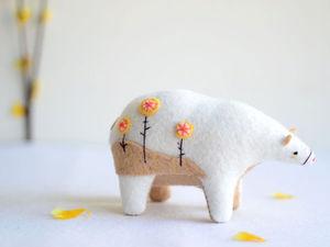 Удивительные фетровые мишки от Sabina Gibson. Ярмарка Мастеров - ручная работа, handmade.