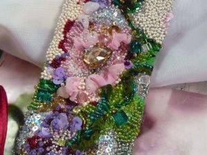 аукцион на вышитый браслет с цветком. Ярмарка Мастеров - ручная работа, handmade.