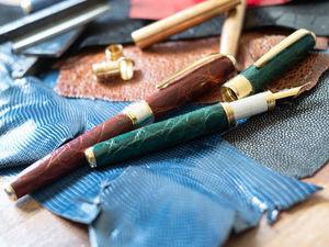Новый цвет ручки из кожи аллигатора. Ярмарка Мастеров - ручная работа, handmade.
