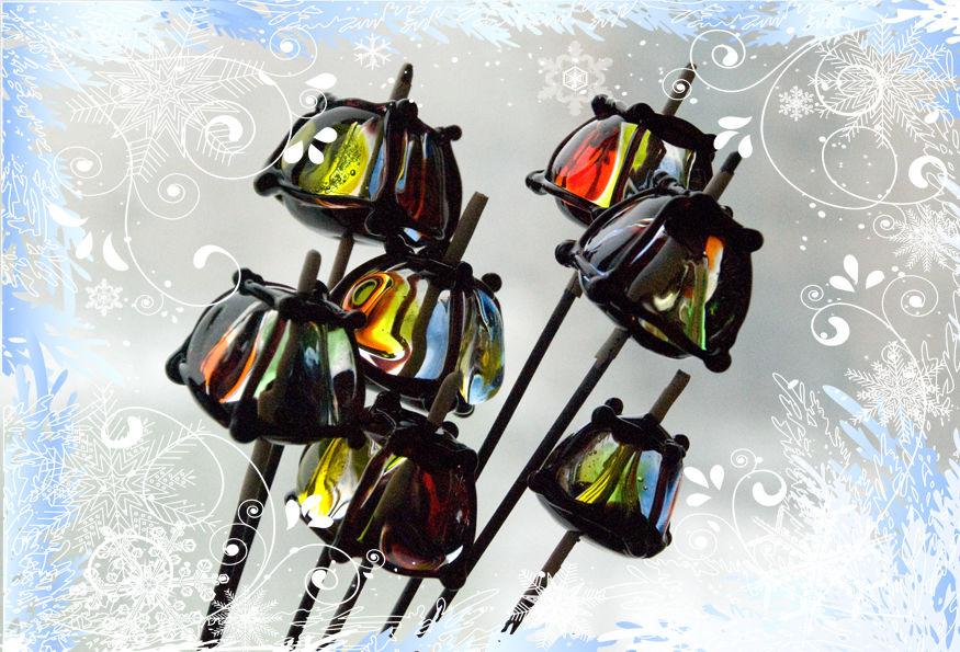 lampwork, лэмпворк, украшения, стекло