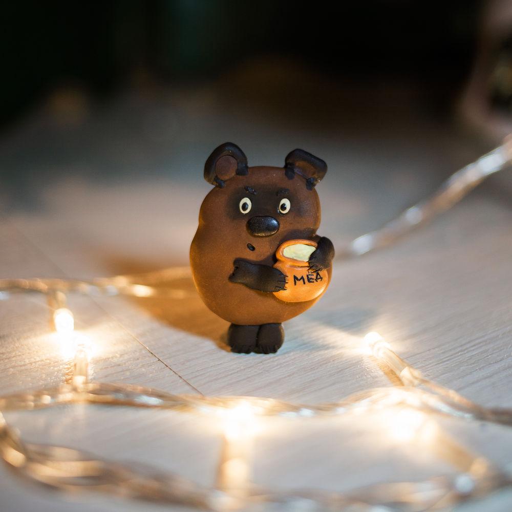 союзмультфильм, винни пух, новый год, рождество, персонаж мультфильма, брошь