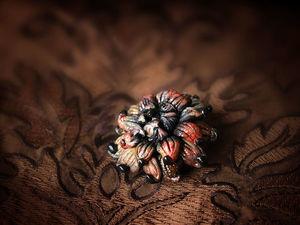 Новая работа! Брошь «Японская хризантема». Ярмарка Мастеров - ручная работа, handmade.