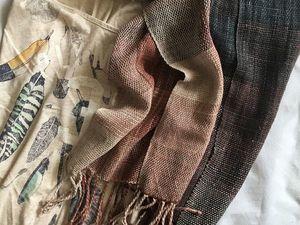 Новый шарф и моменты его создания. | Ярмарка Мастеров - ручная работа, handmade
